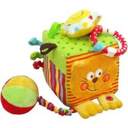 Dětská interaktivní hračka - kostka s kočičkou - Baby Mix