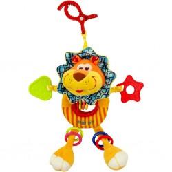 Dětská plyšová hračka s chrastítkem - lvíče - Baby Mix