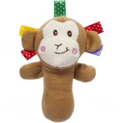 Dětská plyšová hračka s pískátkem - opice - Akuku