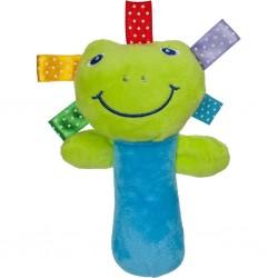 Dětská plyšová hračka s pískátkem - žabka - Akuku