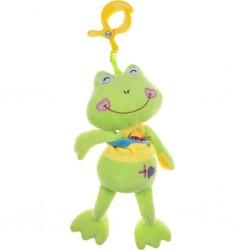 Dětská plyšová hračka s hracím strojkem - žabka - Akuku