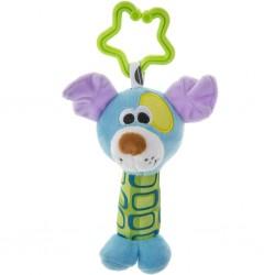 Dětská plyšová hračka s chrastítkem - pejsek - Akuku