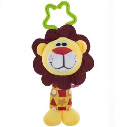 Dětská plyšová hračka s chrastítkem - lvíček - Akuku