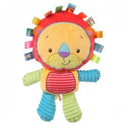Měkká dětská hračka - lev barevný - Nenikos