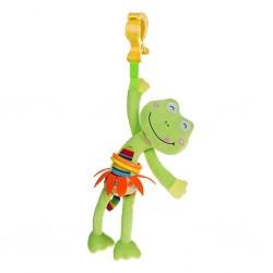 Dětská plyšová hračka s vibrací - žabka - Akuku