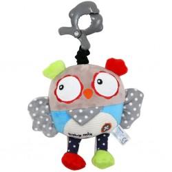 Dětská plyšová hračka s hracím strojkem - sova - Baby Mix
