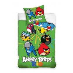 Dětské povlečení - Angry Birds Rio - zelené - 140x200