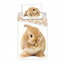 Dětské povlečení - Hnědý králíček - 140x200