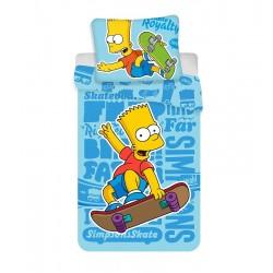 Dětské povlečení - Bart Simpson - modré - 140x200