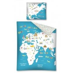 Dětské povlečení - Mapa - 140x200