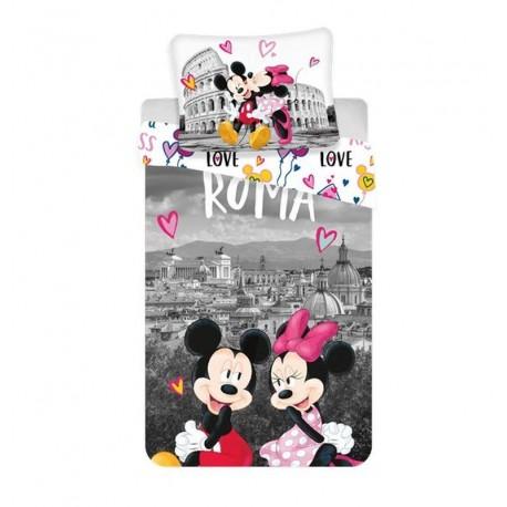 Dětské povlečení - Mickey a Minnie v Římě - 140x200