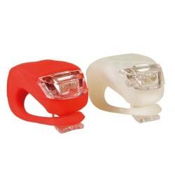 LED světla na kolo - silikonový obal - 2 ks