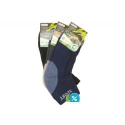 Pánské bambusové kotníkové termo ponožky Pesail BM3541 - 3 páry