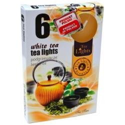 Čajové svíčky 6 kusů - Bílý čaj