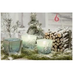 Vonná svíčka ve skle - Zářivé Vánoce, 115 g