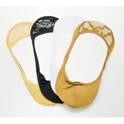 Bambusové krajkové ťapky D-236 - 3 páry - AMZF