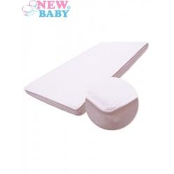 Nepromokavé prostěradlo - 120 x 60 - bílé - New Baby
