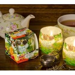 Vonná svíčka ve skle - Zelený čaj s ovocem, 100g