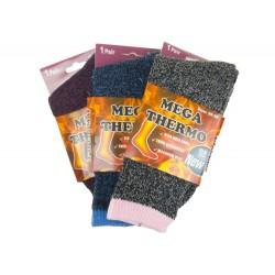 Dámské MEGA termo ponožky W1940 - barevné - 1 pár