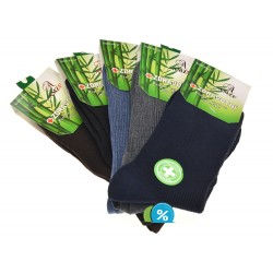 Pánské klasické zdravotní bambusové ponožky AMZF A-9012 - 5 párů