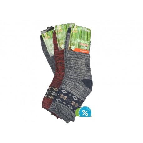 Dámské zdravotní bambusové termo ponožky AMZF PB-834 - 3 páry