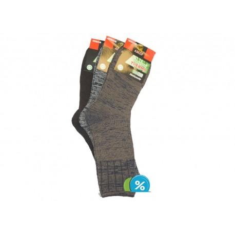 Pánské zdravotní bambusové termo ponožky AMZF PA-6542 - 3 páry