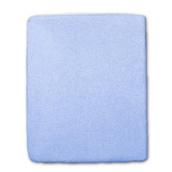 Froté prostěradlo do postýlky - modré - 60 x 120 cm - New Baby