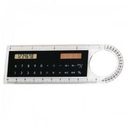 Pravítko se solární kalkulačkou a lupou