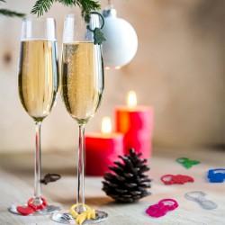 Vánoční rozlišovač skleniček - barevný - 9 ks