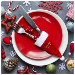Vánočního ozdoba - čepička - červená