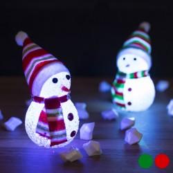 Vánoční LED sněhuláček