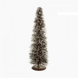 Vánoční stromeček - ratan přírodní bílý - 40 x 15 x 15 cm