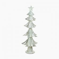 Vánoční stromeček - železný stříbrný - 63 x 25 x 25 cm