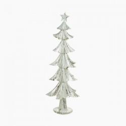 Vánoční stromeček - železný stříbrný - 74 x 28 x 28 cm