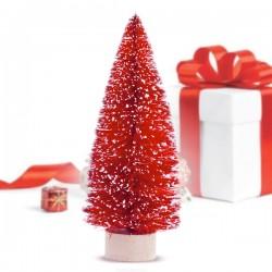 Vánoční stromeček - červený - 12,5 x 5 x 5 cm