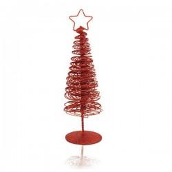 Vánoční stromeček s hvězdou - červený - 25 x 7 x 7 cm