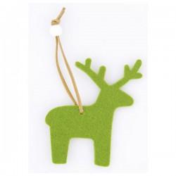 Vánoční ozdoba - zelený sob