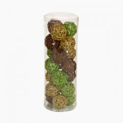 Vánoční baňky - kávové, zlaté, zelené - 21 ks