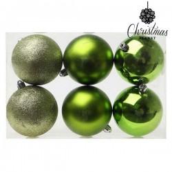Vánoční baňky - zelené - 8 cm - 6 ks