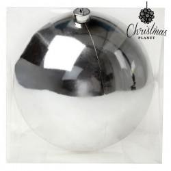 Vánoční baňka - stříbrná - 20 cm - 1 ks