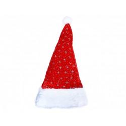 Vánoční čepice - stříbrné hvězdy