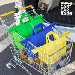 Organizér na nákupy a do zavazadlového prostoru - Cart Car Bags - 4 ks