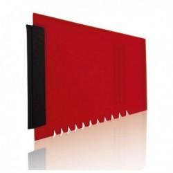 Škrabka na zmrzlá okna - červená