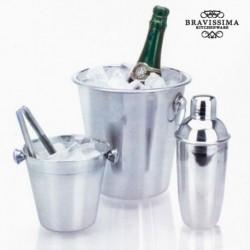 Nerezové kyblíky na led a shaker na koktejly - 4 díly