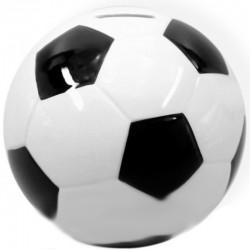 Keramická pokladnička na peníze - fotbalový míč