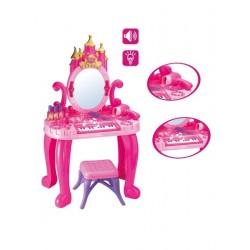 Dětský toaletní stolek s pianem a židličkou + příslušenství - Bayo