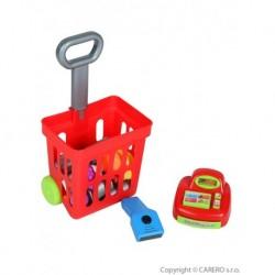 Dětský nákupní košík s příslušenstvím - 27 ks - Bayo