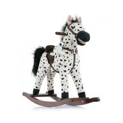 Houpací koník Mustang - Milly Mally - bílo-černý puntíkovaný