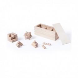 Sada dřevěných hlavolamů - 3 ks