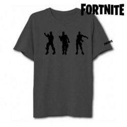 Unisex tričko - Fortnite 75063 - krátký rukáv - šedé